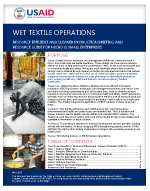 Micro and Small Enterprises: Wet Textile