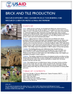 Micro and Small Enterprises: Brick and Tile Production