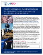 Micro and Small Enterprises: Wood Processing